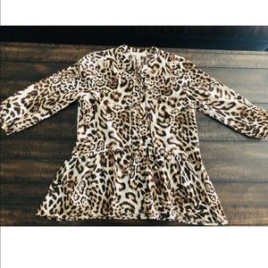 6040aa7b71ce Women Michael Kors Animal Print Top on Poshmark